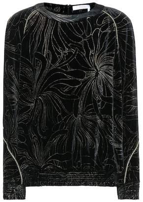 Chloé Embellished velvet top
