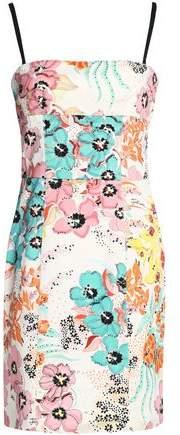 Floral-Print Stretch-Cotton Twill Mini Dress