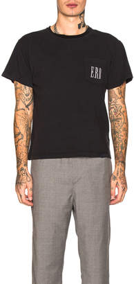 Enfants Riches Deprimes ERD Logo Pocket Tee in Black & White | FWRD