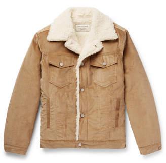 MAISON KITSUNÉ Faux Shearling-Lined Cotton-Corduroy Jacket