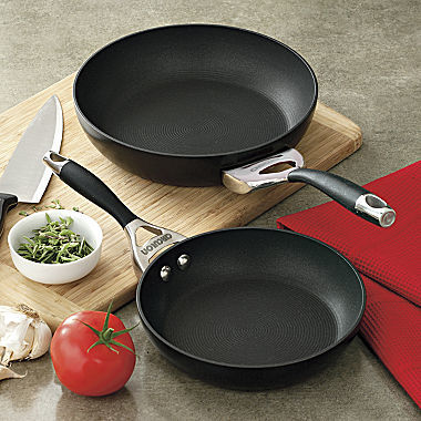 "Circulon 8"" & 10"" Twin-Pack Elite Hard-Anodized Skillets"