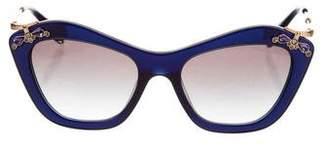 Miu Miu Embellished Gradient Sunglasses
