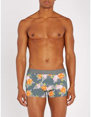 Hom Floral-pattern stretch-cotton trunks