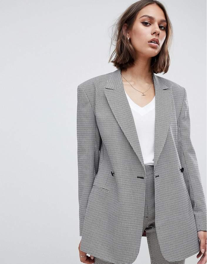 ASOS DESIGN tailored checked blazer
