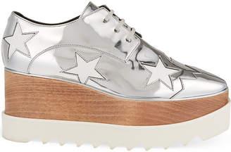 Stella McCartney Elyse Indium flatform Derby shoes