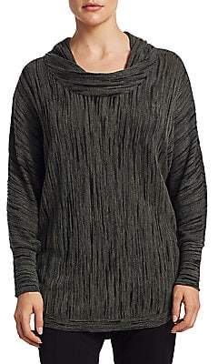 Nic+Zoe Plus Plus Women's Knitted Cowl Neck Top