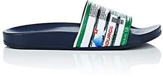 Vetements MEN'S AD-PRINT SLIDE SANDALS - NAVY/WHT SIZE 7 M