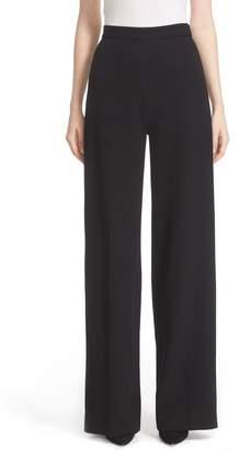 Lela Rose Stretch Wool High Waist Pants