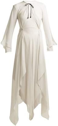 Roland Mouret Austonley draped silk-crepe dress