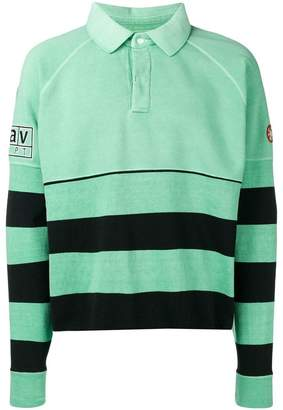 C.E striped long-sleeve polo top