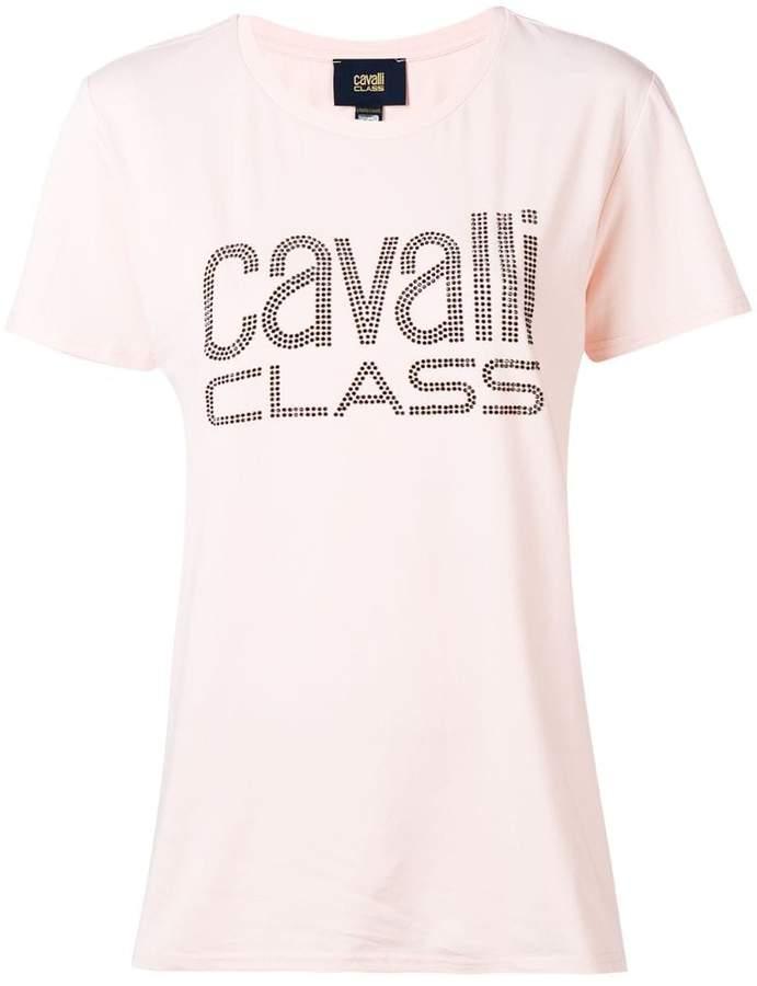 Cavalli Class studded logo T-shirt