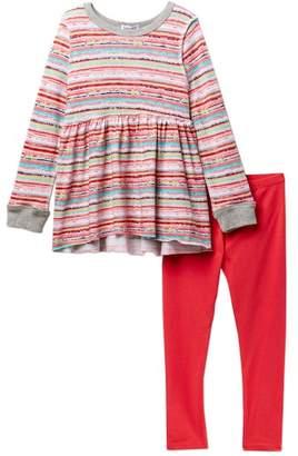 Splendid Stripe Print Sweater & Leggings Set (Little Girls)