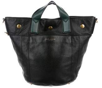 Marc Jacobs Grained Leather Tote Black Grained Leather Tote