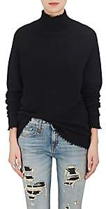 R 13 Women's Cashmere Oversized Turtleneck Sweater-Black