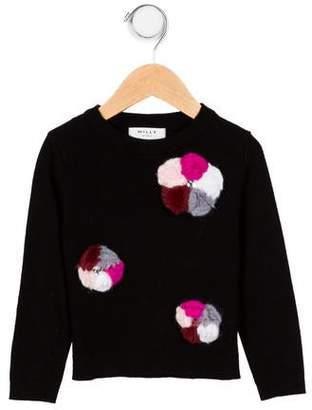 Milly Girls' Embellished Appliqué Top