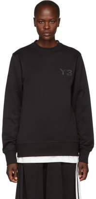 Y-3 Black Logo Classic Crew Sweatshirt