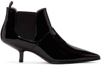 Acne Studios Black Patent Kytti Ankle Boots