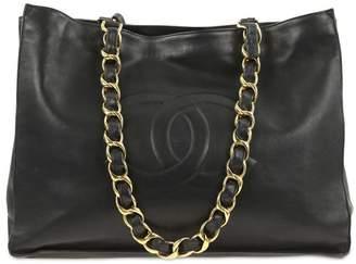 Chanel Tote Timeless Black Lambskin Leather Shoulder Bag