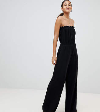 e32dc47afd0 Asos Tall DESIGN Tall Bandeau Jersey Jumpsuit With Wide Leg