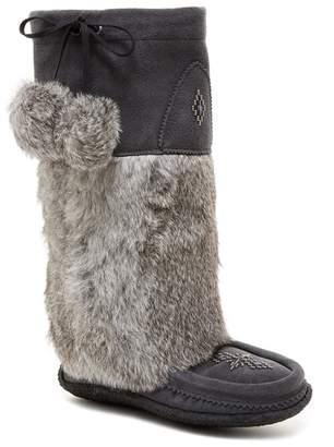 Manitobah Mukluks Genuine Rabbit Fur & Genuine Sheepskin Footbed Classic Tall Suede Mukluk Crepe
