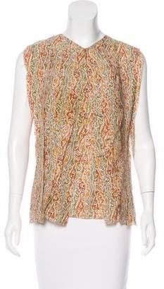 Bottega Veneta Printed Sleeveless Top