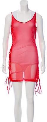 Minimale Animale Mesh Lace-Up Swimsuit Coverup w/ Tags