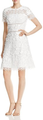 Elie Tahari Adina Floral Appliqué Dress $448 thestylecure.com
