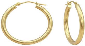 JCPenney FINE JEWELRY Majestique 18K Yellow Gold 25mm Hollow Hoop Earrings