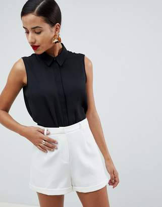 Asos Design DESIGN sleeveless soft shirt