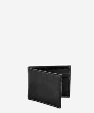 GiGi New York Slim Wallet, Black Vachetta Leather