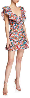 Cloud Nine La Maison Talulah Pleated Flounce Mini Dress