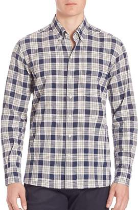 Ovadia & Sons Men's Cotton-Blend Plaid Shirt