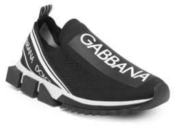 Dolce & Gabbana Stretch Jersey Low-Cut Mesh Sneakers