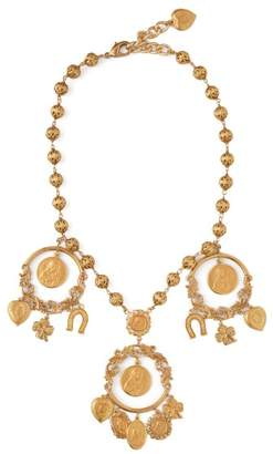 Dolce & Gabbana Cameo And Good Luck Charm Necklace - Womens - Gold