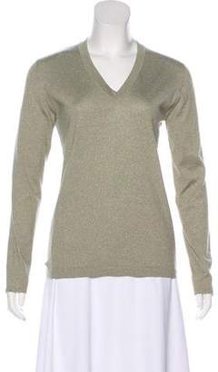Brunello Cucinelli Metallic Knit Top
