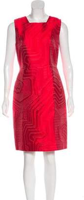 Fendi Geometric Print Sheath Dress