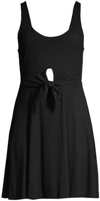 L-Space Topanga Sleeveless Front Knot Keyhole Dress