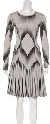 Herve Leger Flared Geometric Dress
