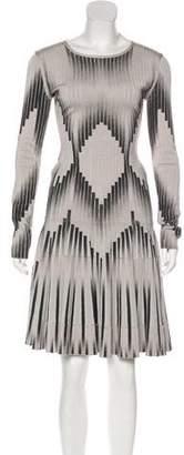 Herve Leger Flared Geometric Dress