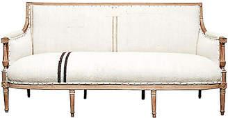 One Kings Lane Vintage Antique Handwoven Kilim Hemp French Sofa