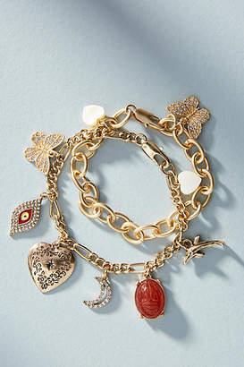 Anthropologie Bits and Baubles Charm Bracelet Set