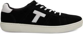 Toms Black Suede Mens Leandro Sneakers