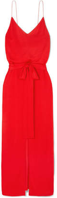 Ninety Percent - Belted Jersey Maxi Dress - Red
