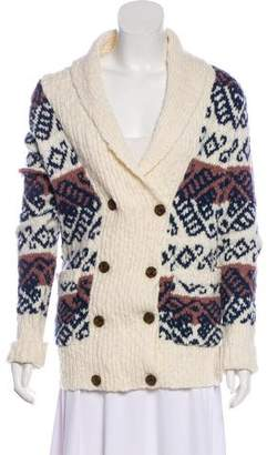 Marc by Marc Jacobs Long Sleeve V-Neck Cardigan