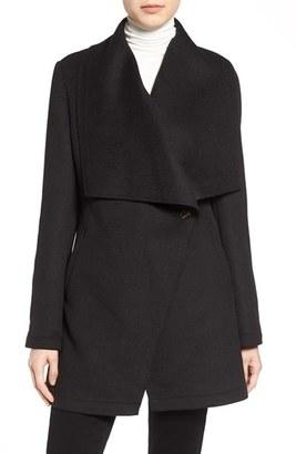 Women's Laundry By Shelli Segal Double Face Drape Collar Coat $198 thestylecure.com