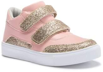 Hoo Double Glitter Strap High Top Sneaker (Toddler, Little Kid, & Big Kid)