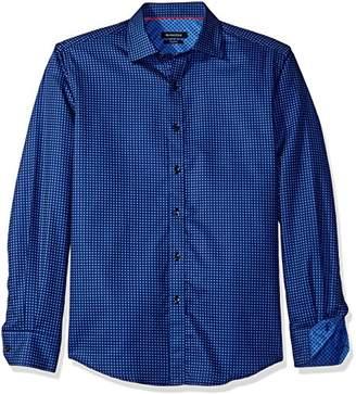 Bugatchi Men's Blue Dot Button Down Shirt