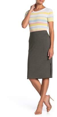 Catherine Malandrino French Terry Knit Midi Skirt (Petite)