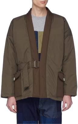 FDMTL Belted down kimono jacket
