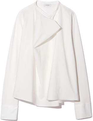 Lemaire Long-Sleeve Stretch-Silk Blouse